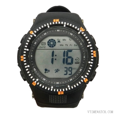 VT-DW1423 Military Round Screen Plastic Multi-functional Digital Watch