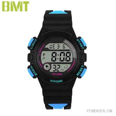 VT-1935 Sport Women Digital Chronograph Resin Strap Watch