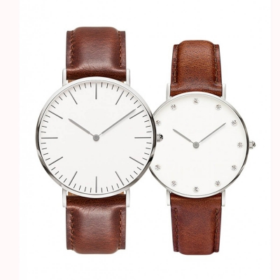 VT-W1415 Hot Selling Ultra Thin Slim Fashion Leather Watch