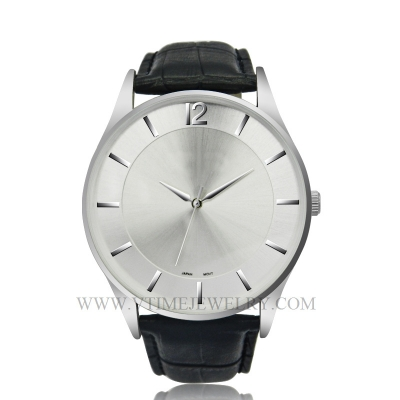VT-AS3015 Fashion Genuine Leather Band Silver slim Watch