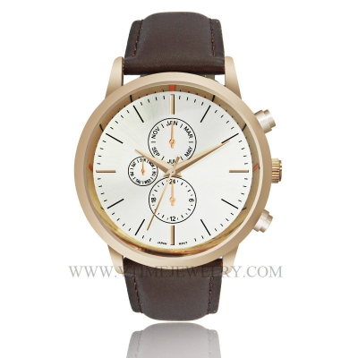 VT-AS3023 Fashion Genuine Leather Band Men Watch