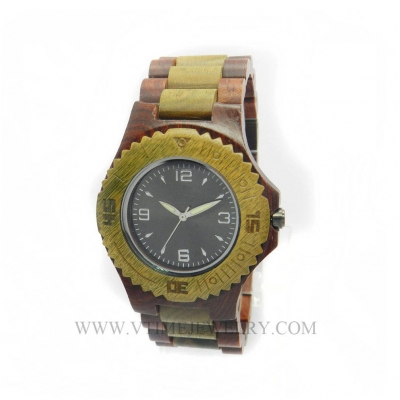 VT-WD1506M Men's Leisure Lifestyle Rosewood Wooden Watch With Rotating Top Ring